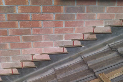 cavity wall tray installation 1